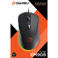 Chuột quang Gaming DAREU EM908 (LED RGB, BRAVO sensor)