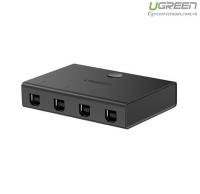 Bộ chia máy in 1 ra 4 cổng USB 2.0 Ugreen 30346